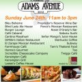 Taste of Adams Avenue 2012 Flyer