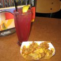 Huckleberry Lemonade & Potato Wedges with Cheese