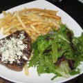 Certified Angus Top Sirloin with Bleu Cheese Crumble, French Fries & Salad