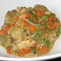 Chicken & Dumplings with Peas and Carrots