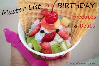 Master List Of Birthday Freebies And Deals