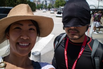 Lynn with Dare Devil (my brother) at San Diego Comic Con 2017