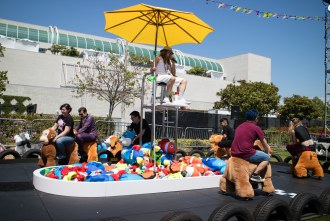 Adult Swim races outside of San Diego Comic Con 2017