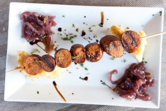 D' Andouille Sausage at Cueva Bar in University Heights of San Diego