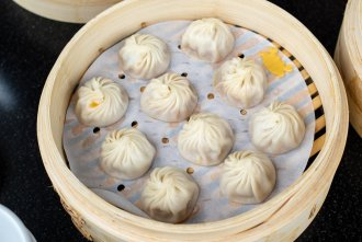 Xiao Long Bao (XLB) at the famous Din Tai Fung at UTC Mall in San Diego