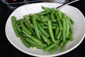 green beans at Din Tai Fung at UTC Mall in San Diego