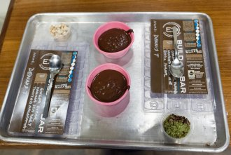 Chocolate molds and mix-ins at Eclipse Chocolate Build A Bar workshop