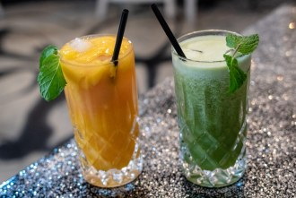 fresh juices at Lazy Hippo in downtown San Diego