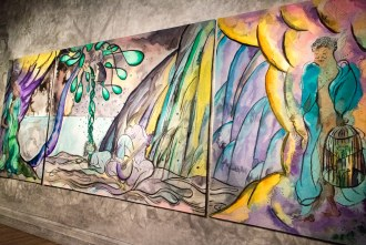 weaving magic by Chris Ofili at The National Gallery in London UK
