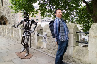 beware of enemy soldiers at Tower of London in London UK