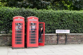 famous telephone booths in London UK