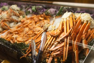 snow crab at Lobster Seafood Buffet at Pechanga Resort and Casino in Temecula