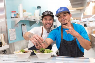 Chef Quindere at Single Fin Kitchen inside Atlas Market in Poway