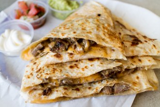 carne asada quesadilla at The Taco Stand in North Park of San Diego