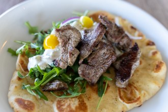 lamb gyro at Beeside Balcony in Del Mar