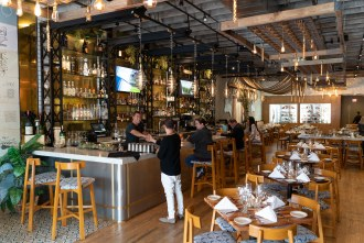 Bar and dining at Butcher's Cut in San Diego