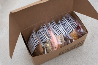 Box of cookies from CAKED
