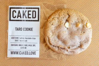 CAKED Taro Cookie and packaging