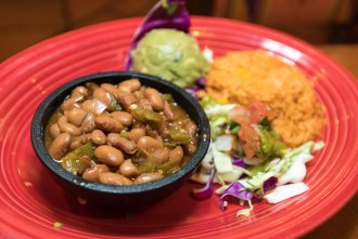 Side of beans and rice at Casa Sol y Mar