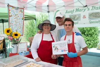A Very Aunt Mary italian cookies at the farmer's market