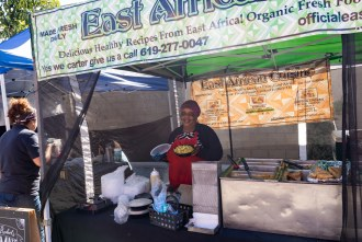 East African Cuisine at the farmer's market