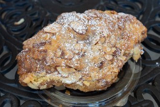 Almond Croissant from French Oven bakery in San Diego