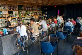 Indoor seating and bar at Louisiana Purchase in San Diego