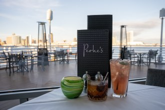 View of the skyline at Peohe's, a Chart House Restaurant in San Diego