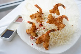 Coconut Crunchy Shrimp at Peohe's, a Chart House Restaurant in San Diego