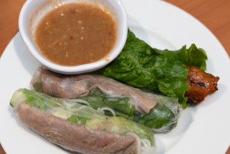 Spring rolls portion of Bo 7 Mon at Phuong Trang in San Diego