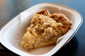 Pear and Frangipane Crumble Pie at Pop Pie Company in San Diego