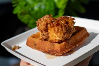 Chicken and Waffles from Union Kitchen and Tap at San Diego Reader first annual Brunch and Booze