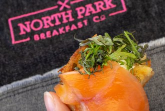 Smoked Salmon from North Park Breakfast Co at San Diego Reader first annual Brunch and Booze