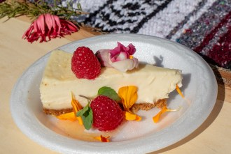 mascarpone cheesecake by Chef Turok at San Diego Reader Brunch and Booze