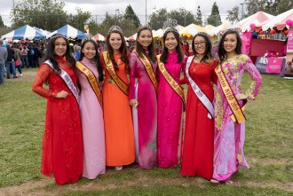 Lunar New Year pageant queens at Tet Festival Mira Mesa