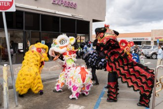 Traditional Lion Dance at Jasmine Express for Lunar New Year