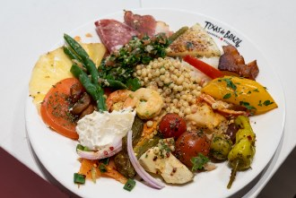 Salad Bar Plate at Texas de Brazil Churrascaria Steakhouse in Carlsbad