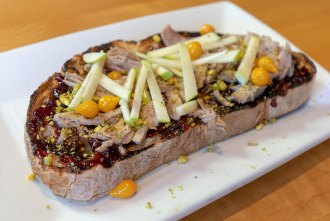 Duck Confit Toast at Toast Gastrobrunch in Carlsbad