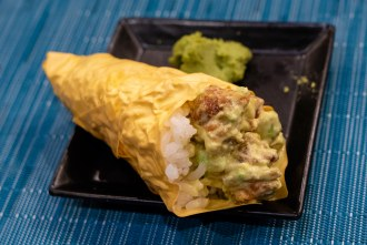 Zig Zag hand roll course during omakase at Too Sushi Project