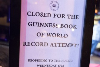 Whiskey House for the Guinness Book of World Record attempt
