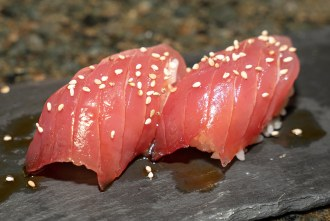 Tuna Nigiri at Wrench and Rodent in Oceanside