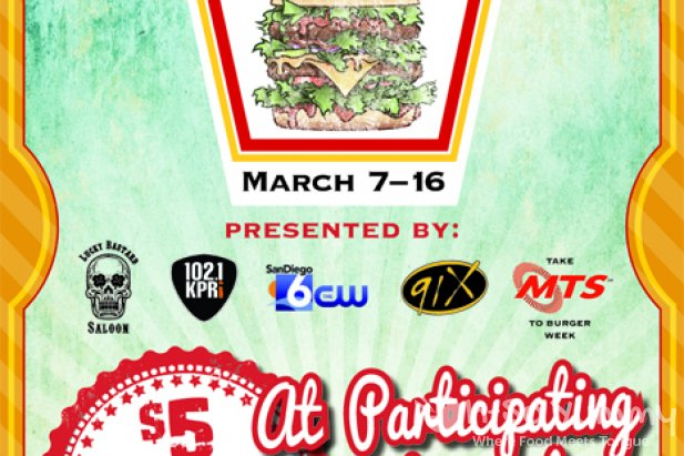 San Diego Burger Week March 7 - March 16 2014 flyer