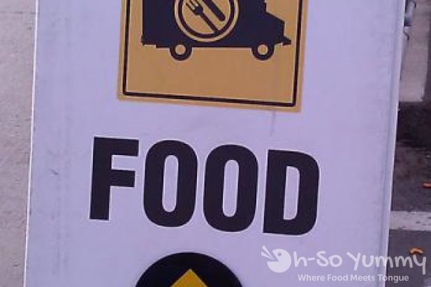 San Diego Food Truck Festival 2011 food trucks ahead sign
