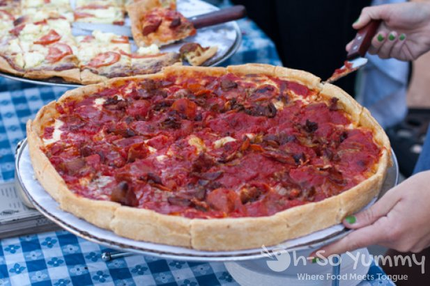 Taste of North Park 2011 - Lefty's Pizza meatlovers pizza