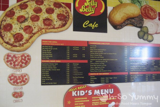 Jelly Belly Cafe Menu