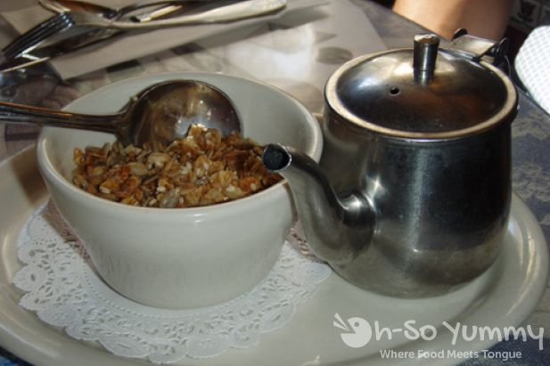Cup of Granola with Milk