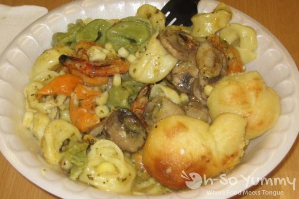 Cheese Tortellini with Shrimp