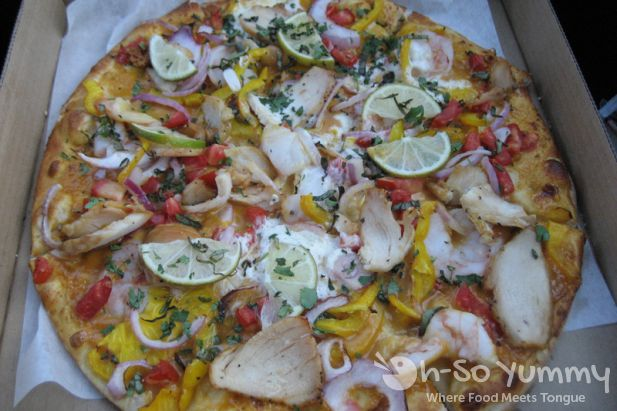 Thai Red Chicken Curry Pizza
