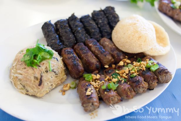 4 beef courses at Anh Hong Restaurant in Garden Grove
