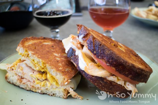 smoked turkey breast sandwich at Barrel Republic in Carlsbad
